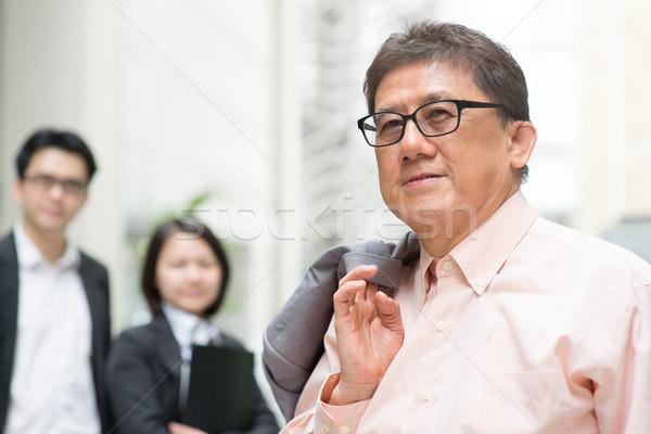 Teamleider lid leider team portret 60s Stockfoto © szefei