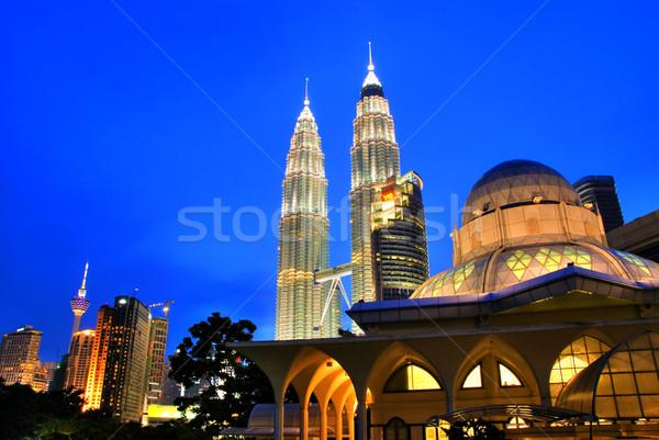 Куала-Лумпур Малайзия известный мечети towers бизнеса Сток-фото © szefei