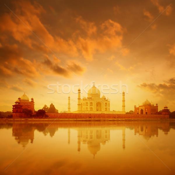 Taj Mahal India sunrise amore panorama mondo Foto d'archivio © szefei