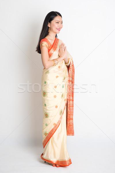 Indian greeting pose Stock photo © szefei