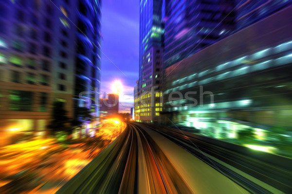 High speed train in city Stock photo © szefei