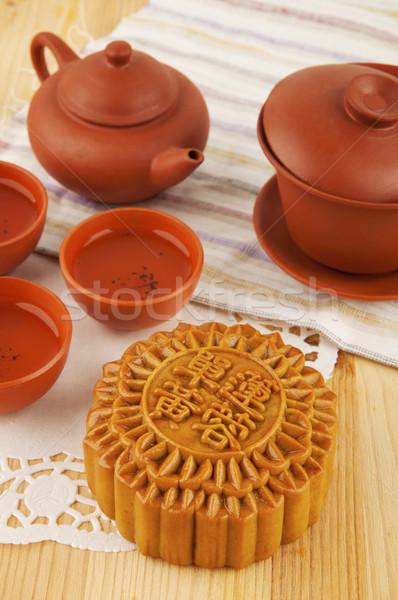 Festival chá conjunto tabela tradicionalmente chinês Foto stock © szefei