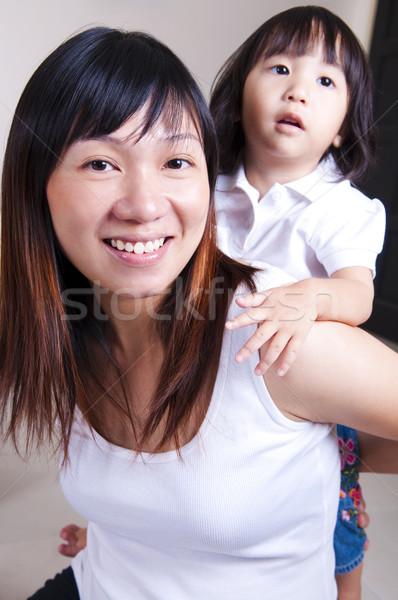 Happy family. Stock photo © szefei