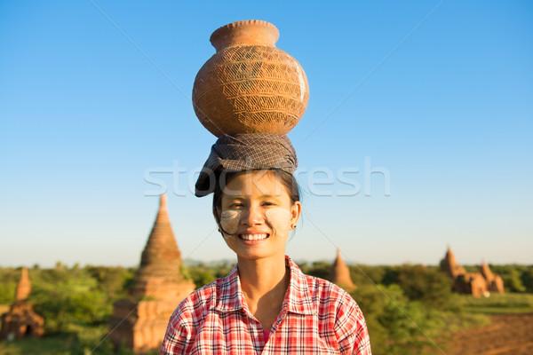 Сток-фото: молодые · азиатских · традиционный · женщины · фермер