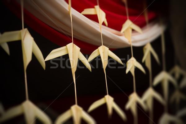 Indiano tradicional coco folhas decorações decoração Foto stock © szefei
