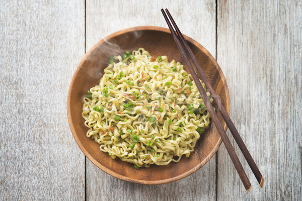 Delicious Asian Japanese dried ramen noodles top view Stock photo © szefei