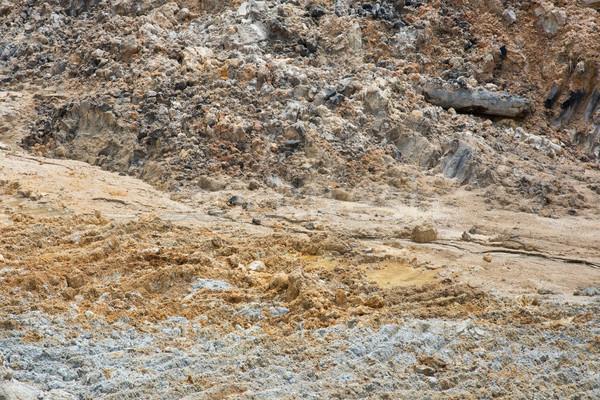 Sand quarry close up Stock photo © szefei