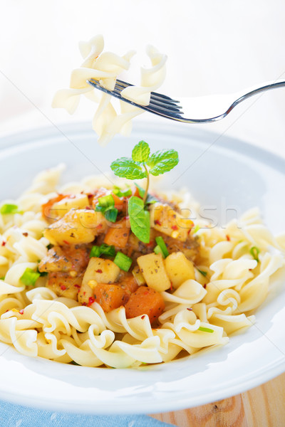 Delicious pasta fusilli  Stock photo © szefei