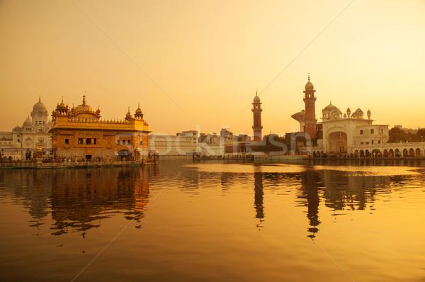 храма Восход здании оранжевый бассейна Сток-фото © szefei