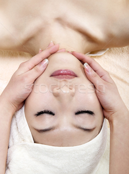 Face massage Stock photo © szefei