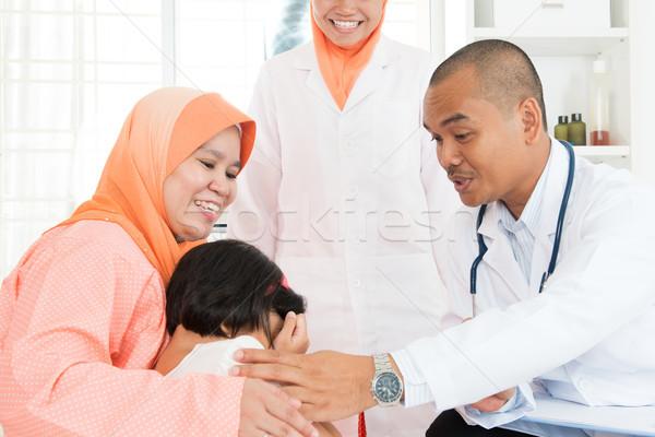 Children crying at hospital Stock photo © szefei