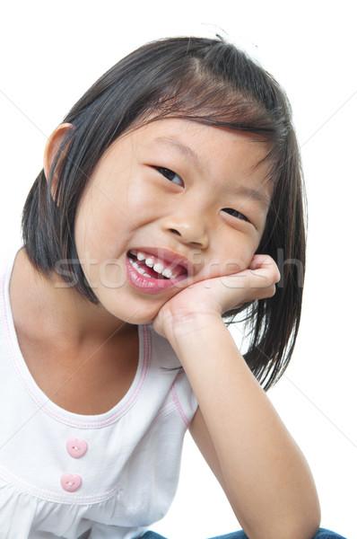 Little Asian girl Stock photo © szefei