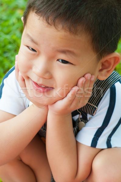 Asian ragazzo primo piano shot giovani sorriso Foto d'archivio © szefei