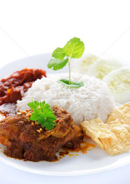 Nasi lemak malay dish Stock photo © szefei