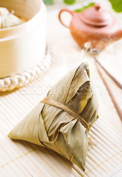 Rizs gombóc hagyományos párolt kínai étel dim sum Stock fotó © szefei