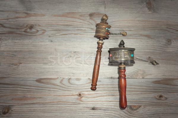Tibetan prayer wheel  Stock photo © szefei