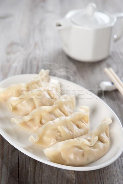 Asian meal dumplings Stock photo © szefei