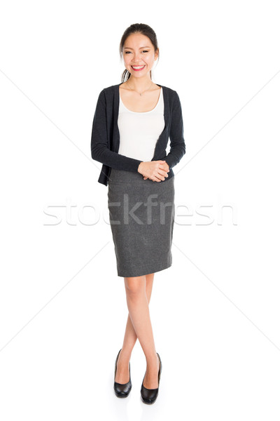 Fullbody portrait of young Asian woman Stock photo © szefei