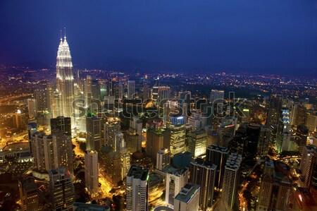 Top мнение Куала-Лумпур ночь закат Сток-фото © szefei