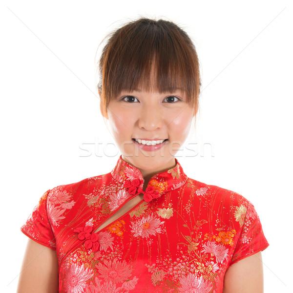 Chinese girl face Stock photo © szefei