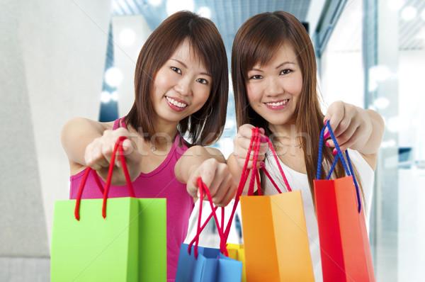 Two Happy Shoppers Stock photo © szefei