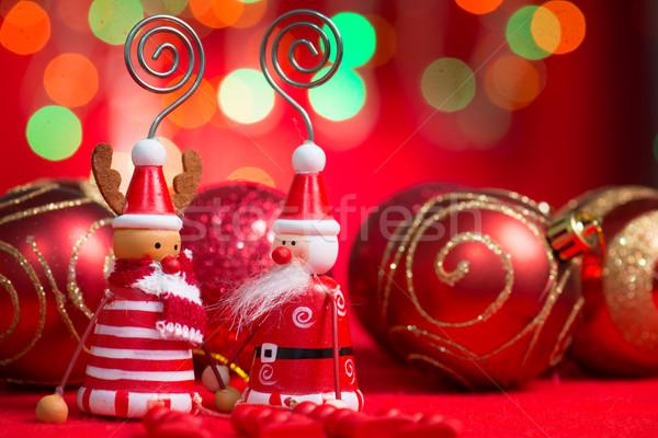 Рождества украшения красный украшения Дед Мороз северный олень Сток-фото © szefei