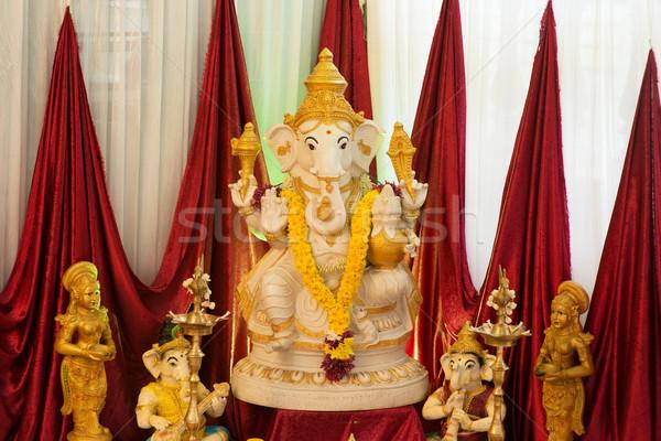 ídolo adorar rezar deus elefante indiano Foto stock © szefei