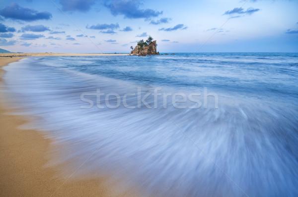 Plaj Malezya uzun pozlama yavaş panjur dalgalar Stok fotoğraf © szefei