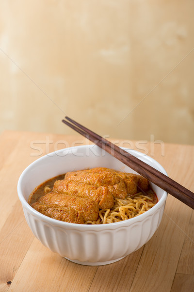 Asian food Hot and Spicy Curry Laksa Noodles  Stock photo © szefei