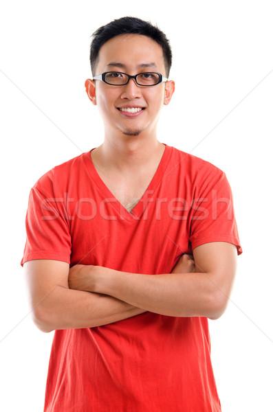 Portre genç güneydoğu Asya adam gündelik Stok fotoğraf © szefei