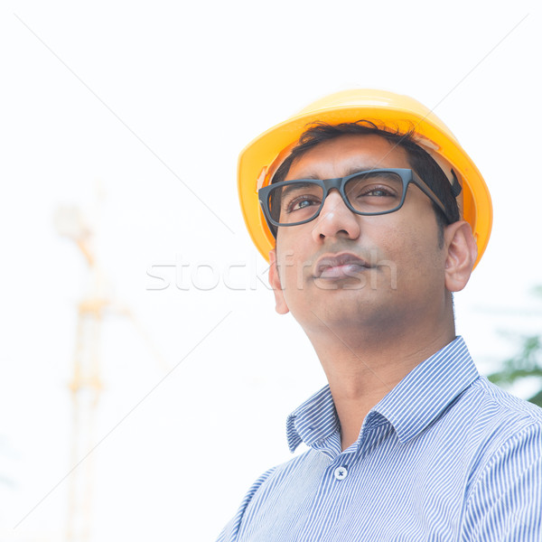 Asian Indian engineer portrait Stock photo © szefei