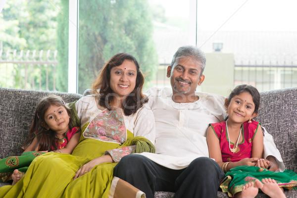 Indian family Stock photo © szefei