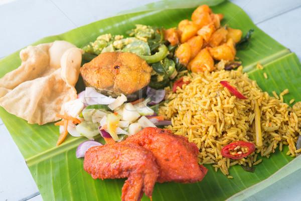 Tasty biryani mixed rice Stock photo © szefei