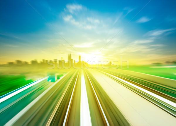 Kuala Lumpur céu trem em movimento rápido cidade Foto stock © szefei