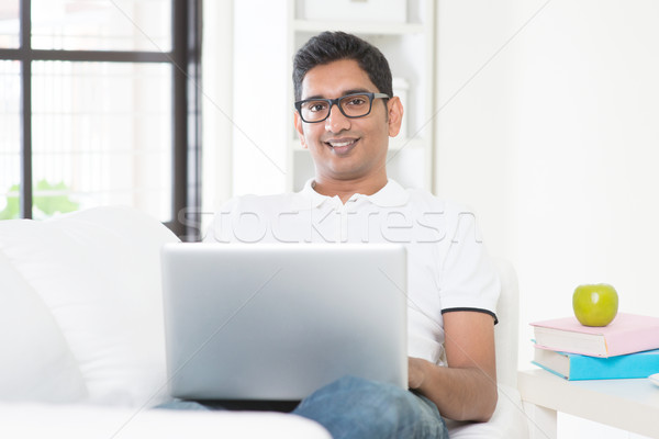 Man working from home concept Stock photo © szefei