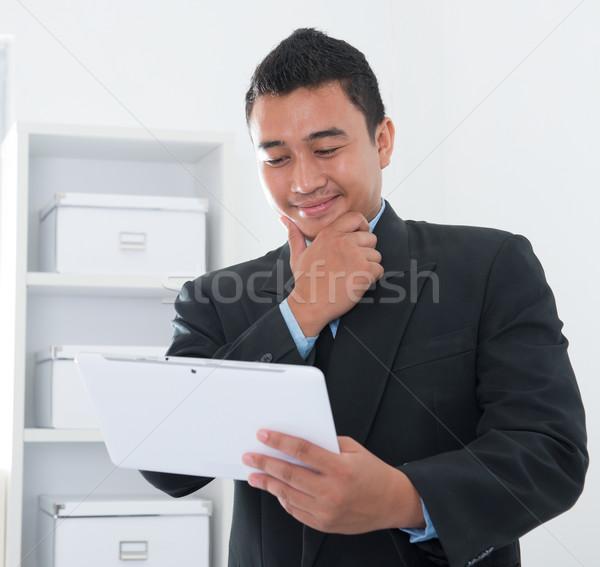 Online délkelet ázsiai emberek hálózat adatbázis Stock fotó © szefei