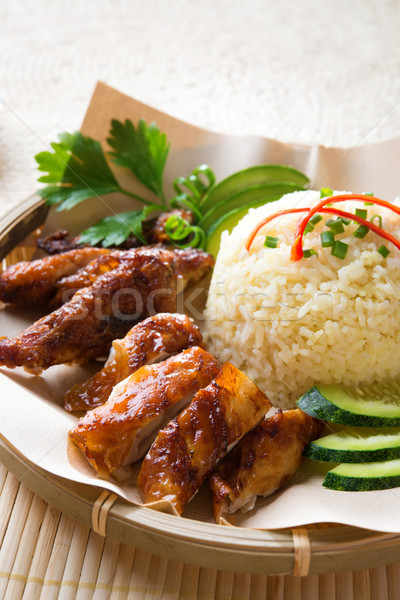 Singapour style poulet riz Photo stock © szefei