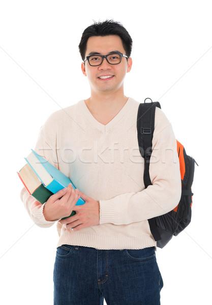 азиатских взрослый студент случайный носить школы Сток-фото © szefei