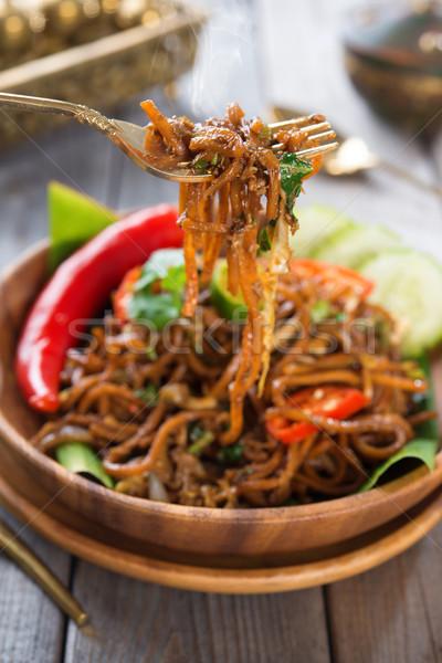 spicy fried noodle Stock photo © szefei