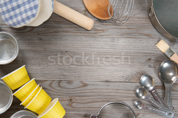 Baking tools from overhead view  Stock photo © szefei