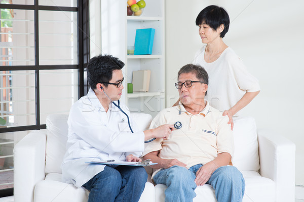 Senior people healthcare concept Stock photo © szefei