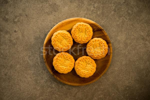 Księżyc ciasta niski świetle tradycyjny znajomych Zdjęcia stock © szefei
