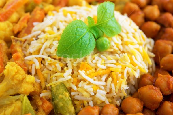 Vegetáriánus rizs közelkép közelkép friss főtt Stock fotó © szefei