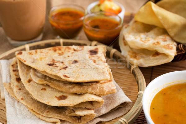 Culinária indiana comida indiana caril chá famoso restaurante Foto stock © szefei