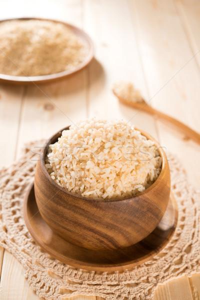 Fresh cooked India organic basmati brown rice Stock photo © szefei