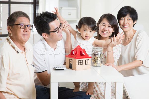 Asian family financial concept Stock photo © szefei