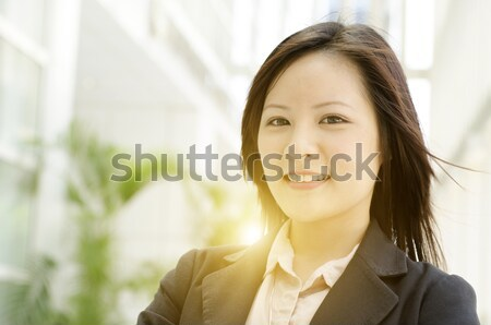 Portrait of young Asian woman executive  Stock photo © szefei
