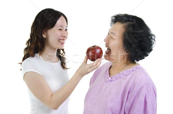 Matka córka zdrowa dieta portret asian dorosły Zdjęcia stock © szefei