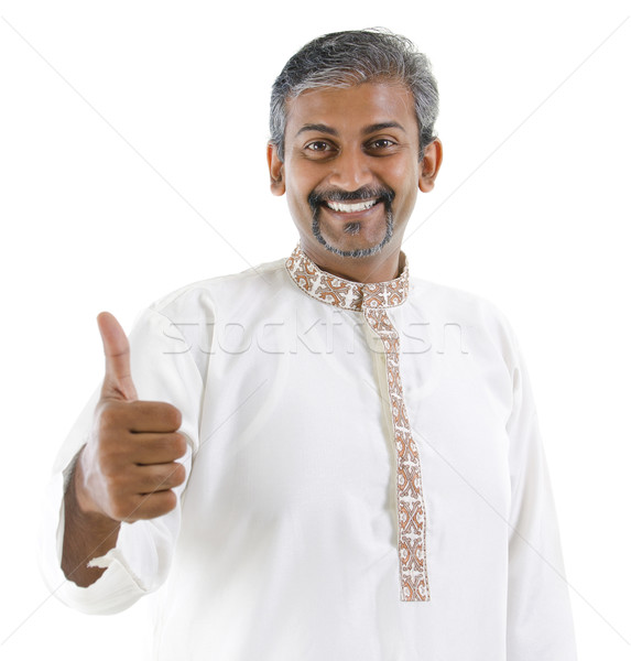 Thumb up Indian man Stock photo © szefei