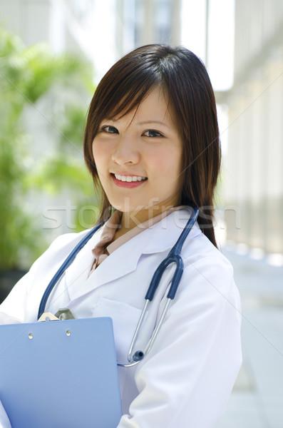 ázsiai kínai orvostanhallgató fiatal áll elöl Stock fotó © szefei